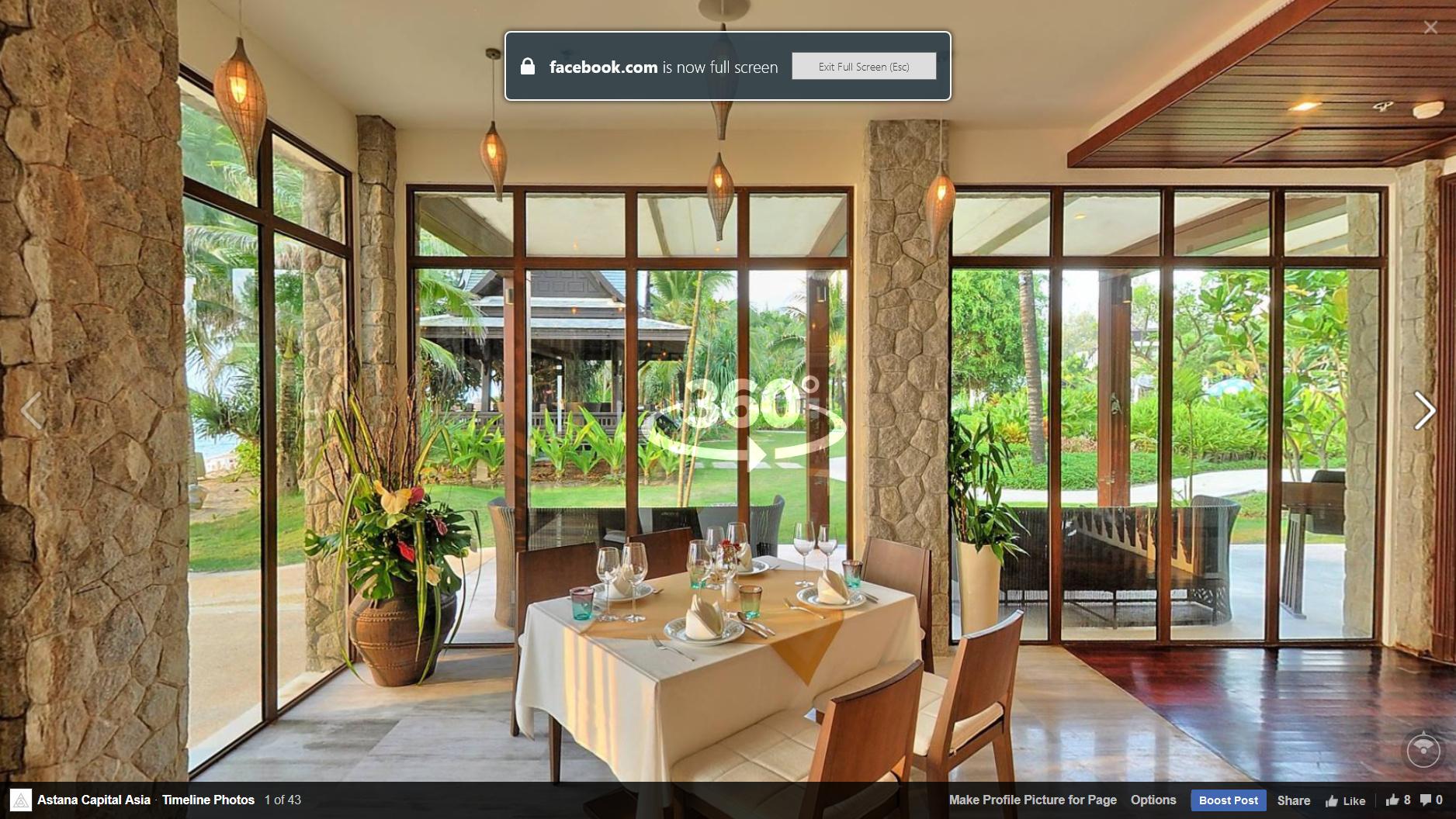 Facebook включил поддержку 360°